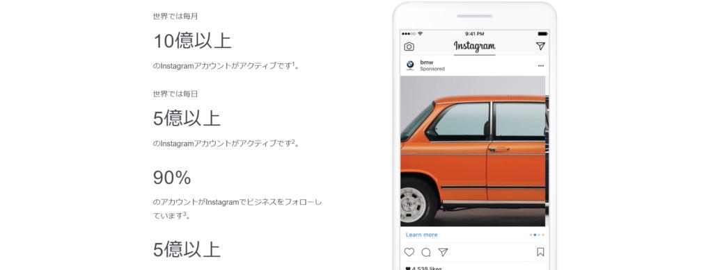 Instagramの1日のユーザーは5億人です。